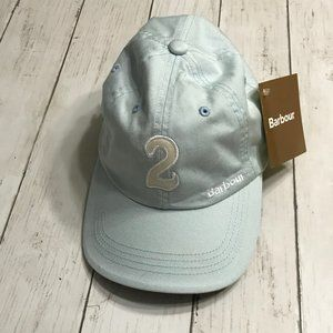 Barbour Pale Blue Polo Cap NWT